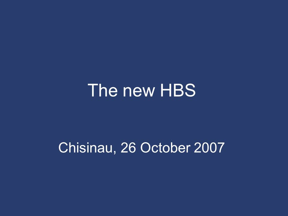 The new HBS Chisinau, 26 October 2007