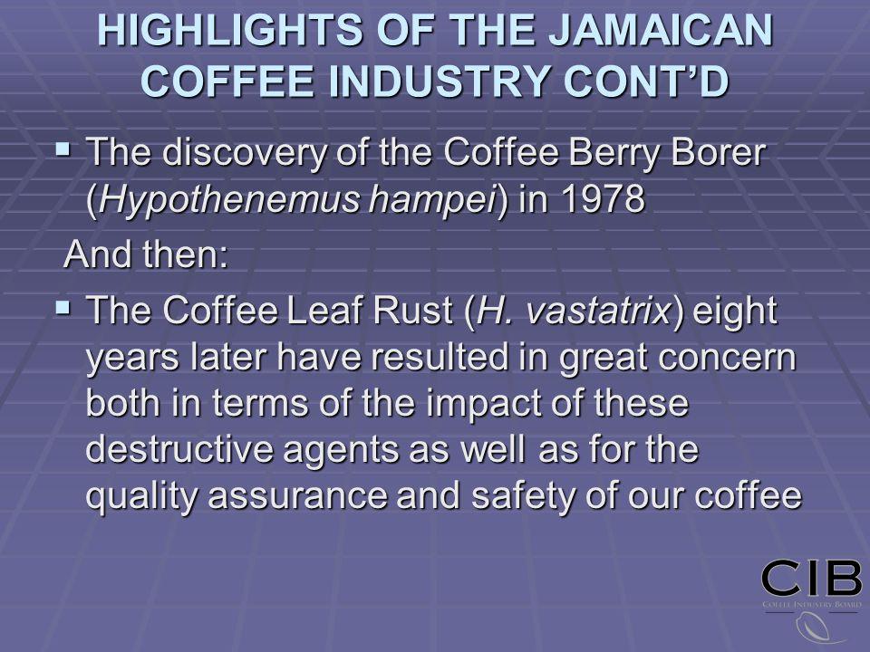 STATUS OF COFFEE LEAF RUST (Hemileia vastatrix) IN JAMAICA
