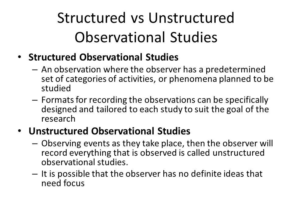 structured observation