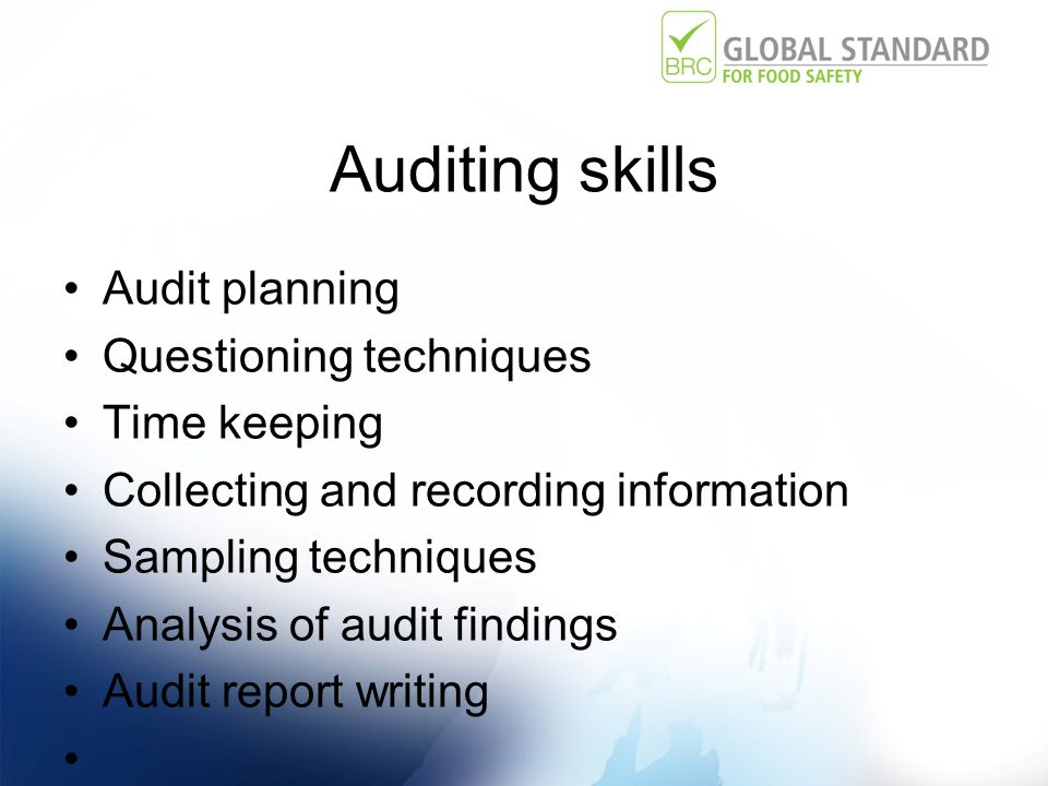 Auditor Competency David Brackston Technical Director BRC Global