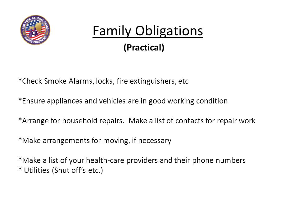4 Family Obligations