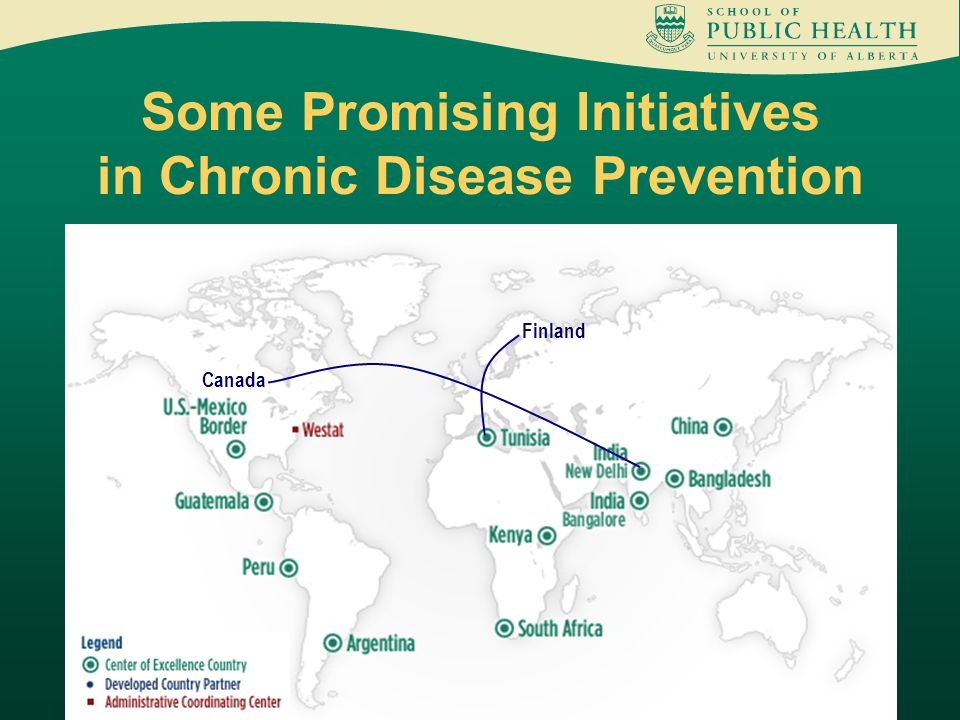 Some Promising Initiatives in Chronic Disease Prevention Finland Canada