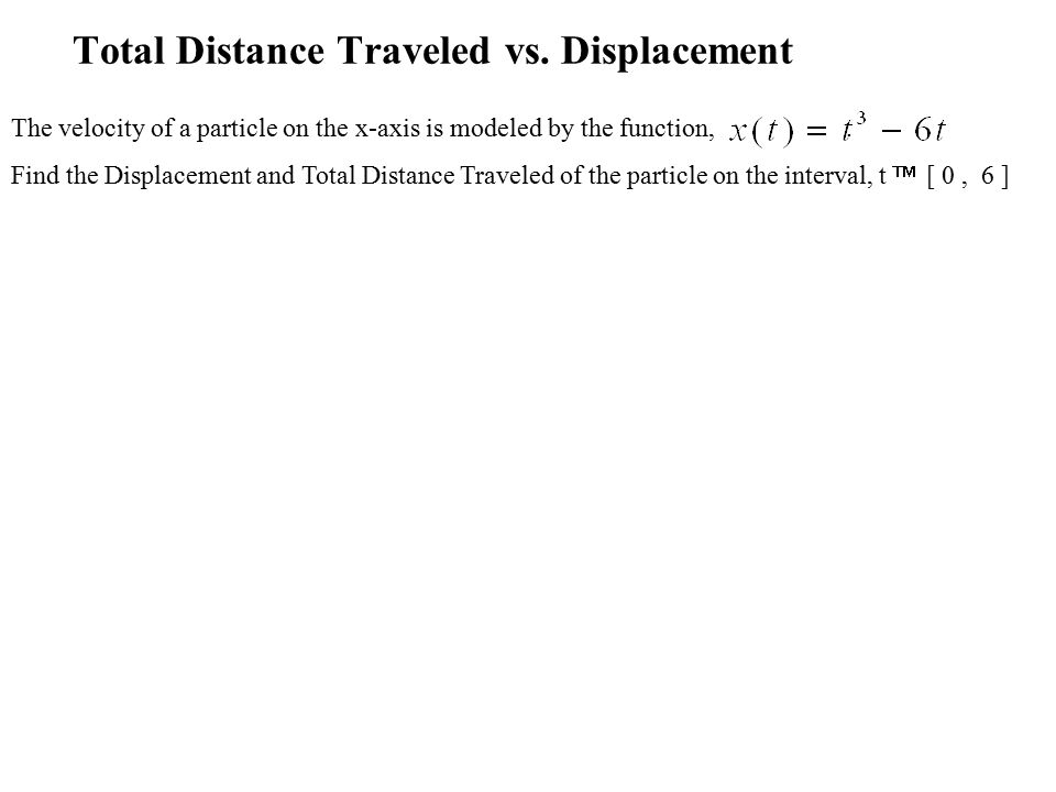 Total Distance Traveled vs.