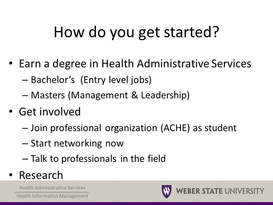 Health Administrative Services Health Information Management Health