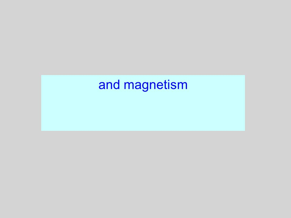 2 And Magnetism