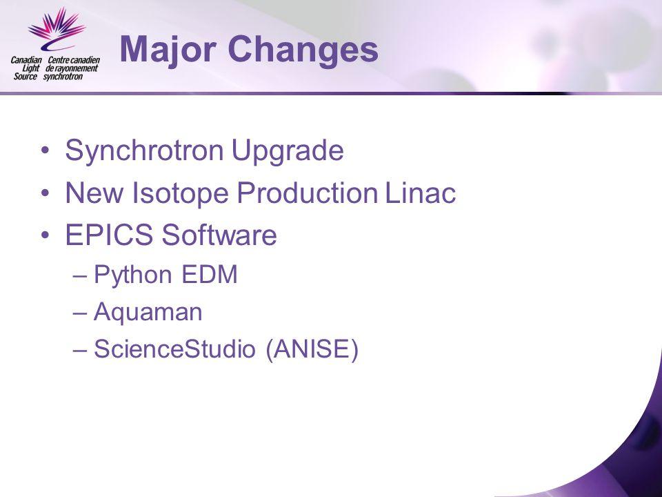 Elder Matias CLS Control System Recent Upgrades  Major