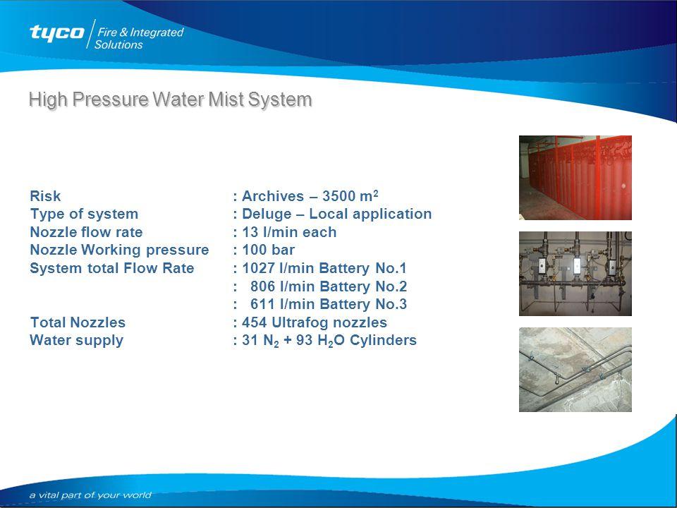 High & Low Pressure Watermist Systems. High Pressure Water Mist ...