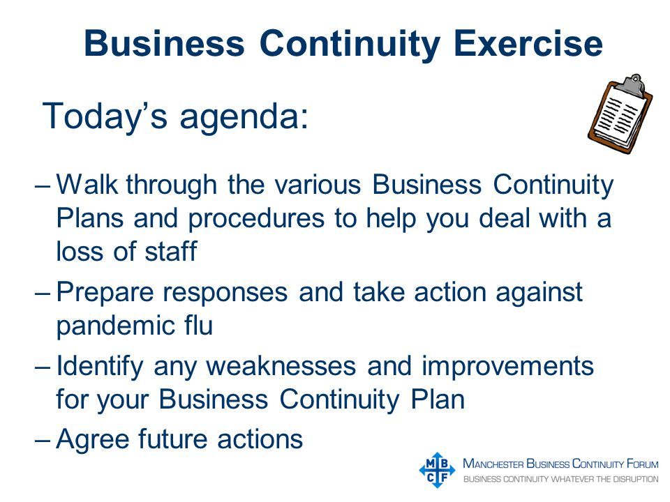 Business continuity and the flu pandemic disclaimer this template 2 business continuity exercise flashek
