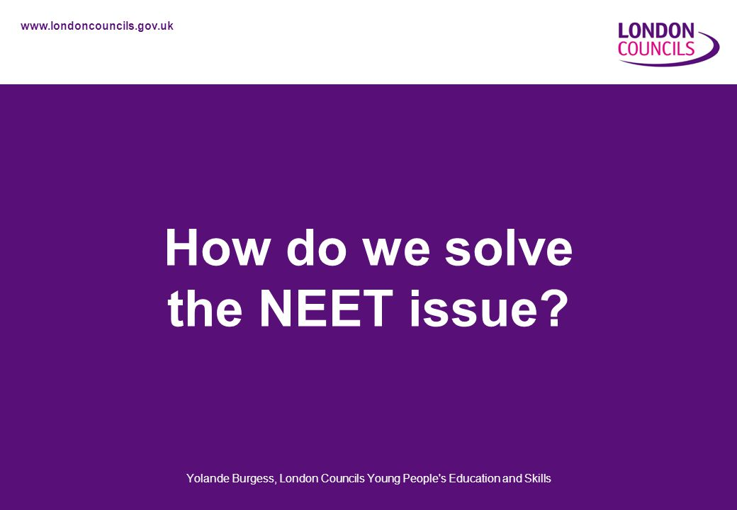 How do we solve the NEET issue.