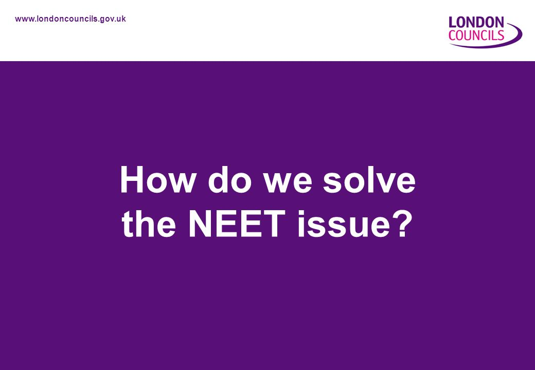 How do we solve the NEET issue