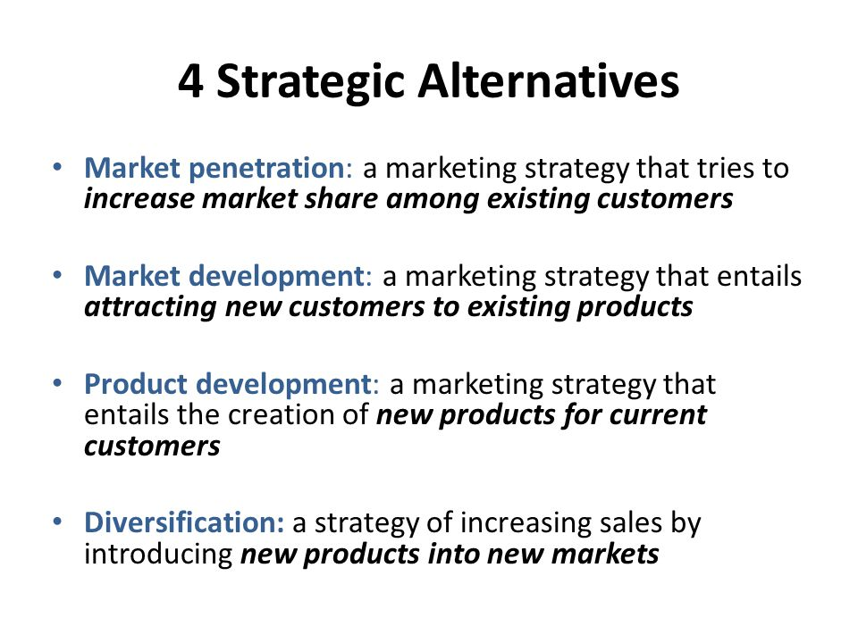 strategic alternatives for toyota Strategic management casestudy toyota1 toyota strategy marketing final strategy according our assessment backward strategy is better for toyota and other mechanisms for planning and control in different departments.