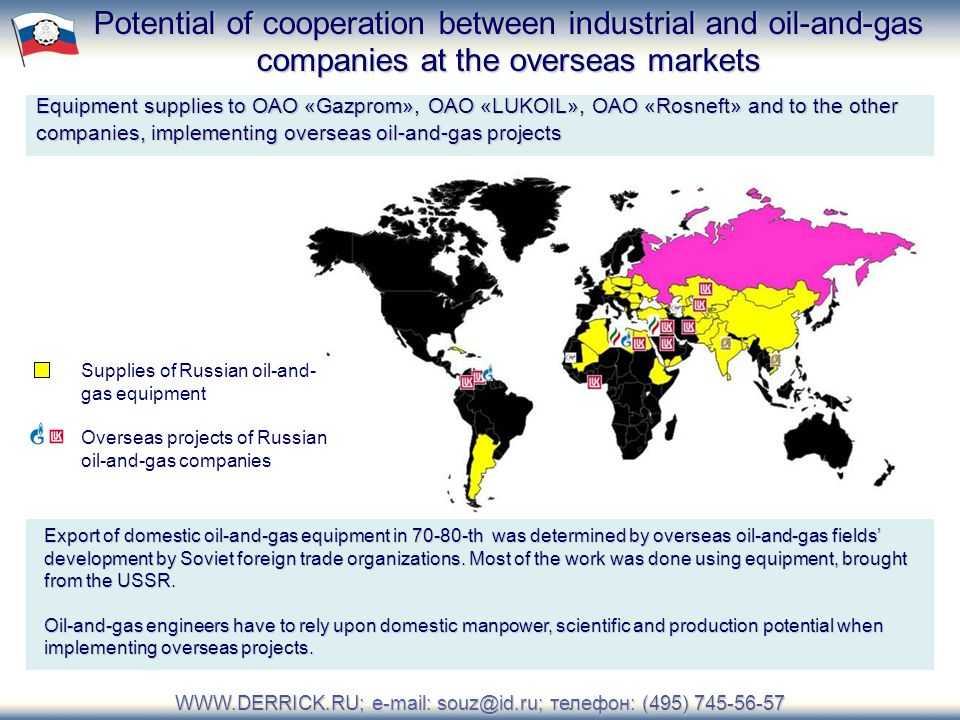 телефон: (495) Oil-and-Gas Equipment Producers and Customers