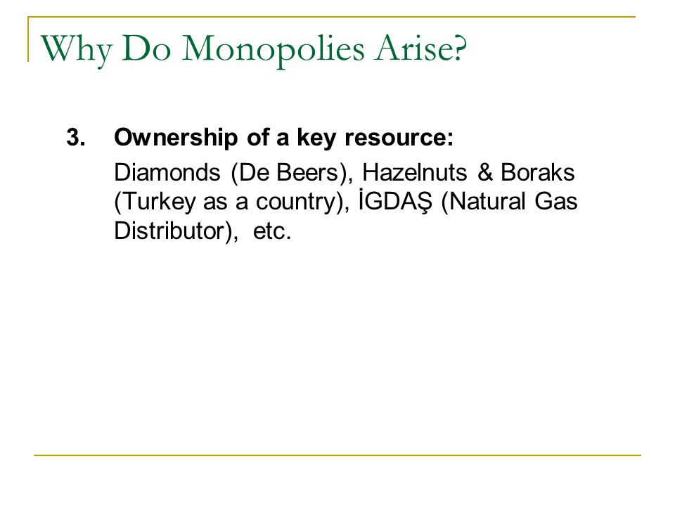 Why Do Monopolies Arise.