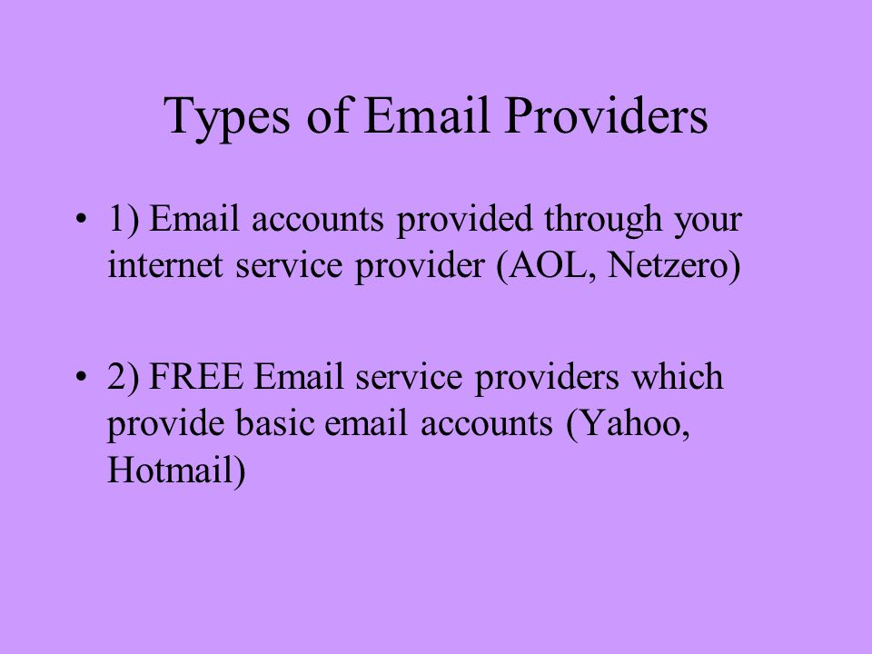 Introduction to   What is ? is electronic mail that allows