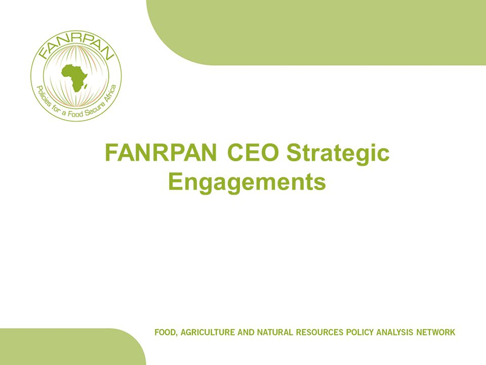 FANRPAN CEO Strategic Engagements