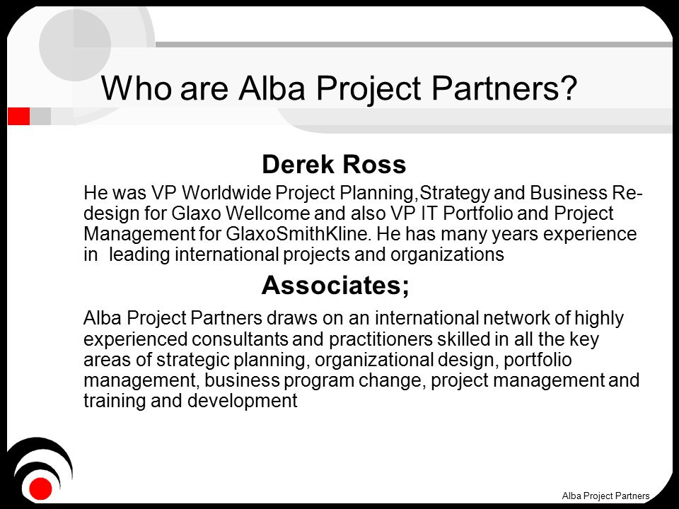 Who are Alba Project Partners.