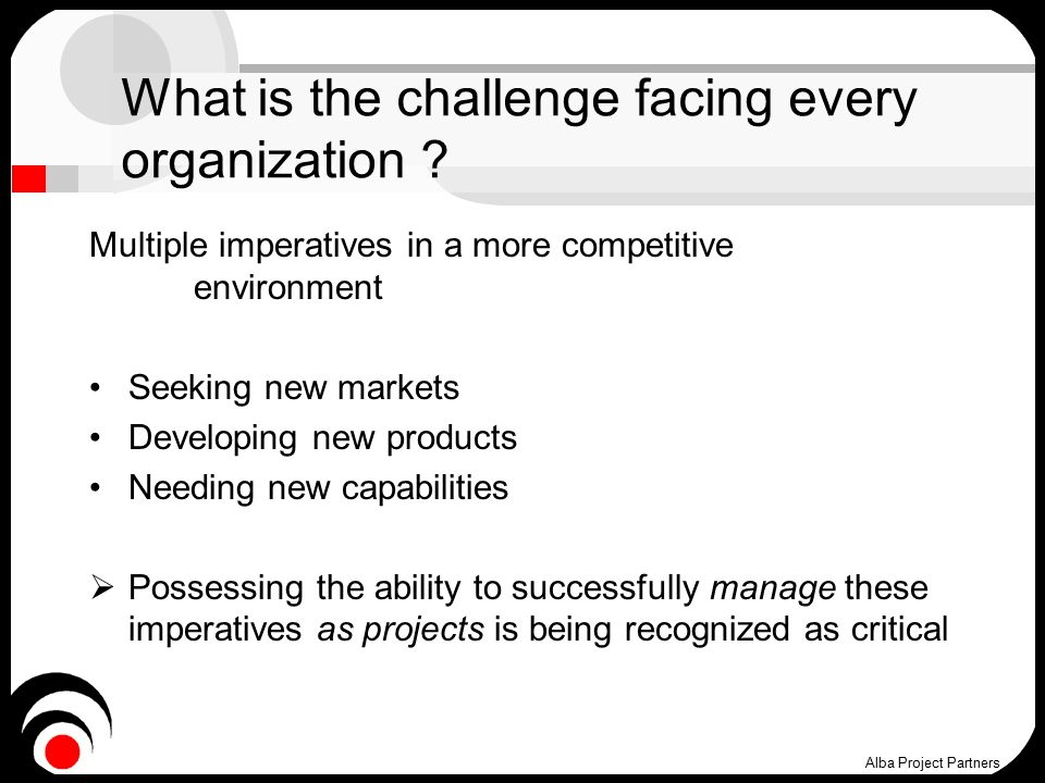 What is the challenge facing every organization .