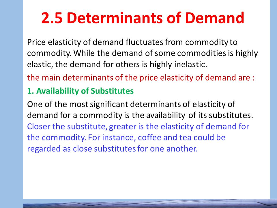 determinants of demand in managerial economics