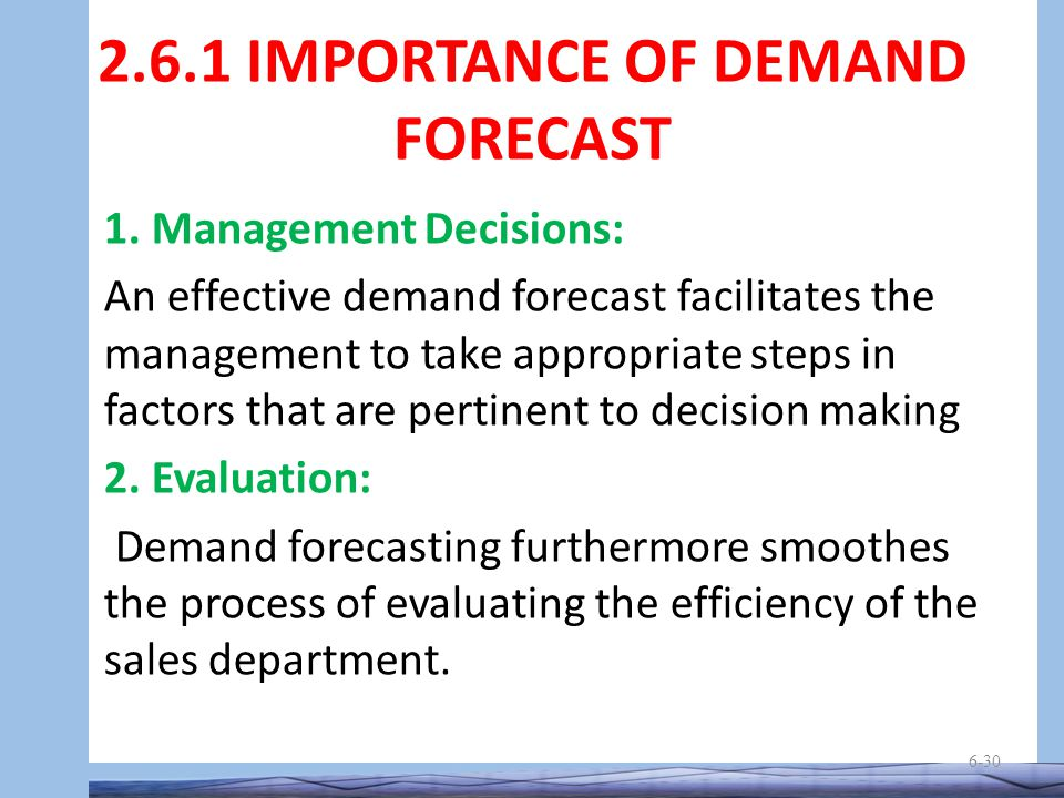 importance of demand forecasting in managerial economics