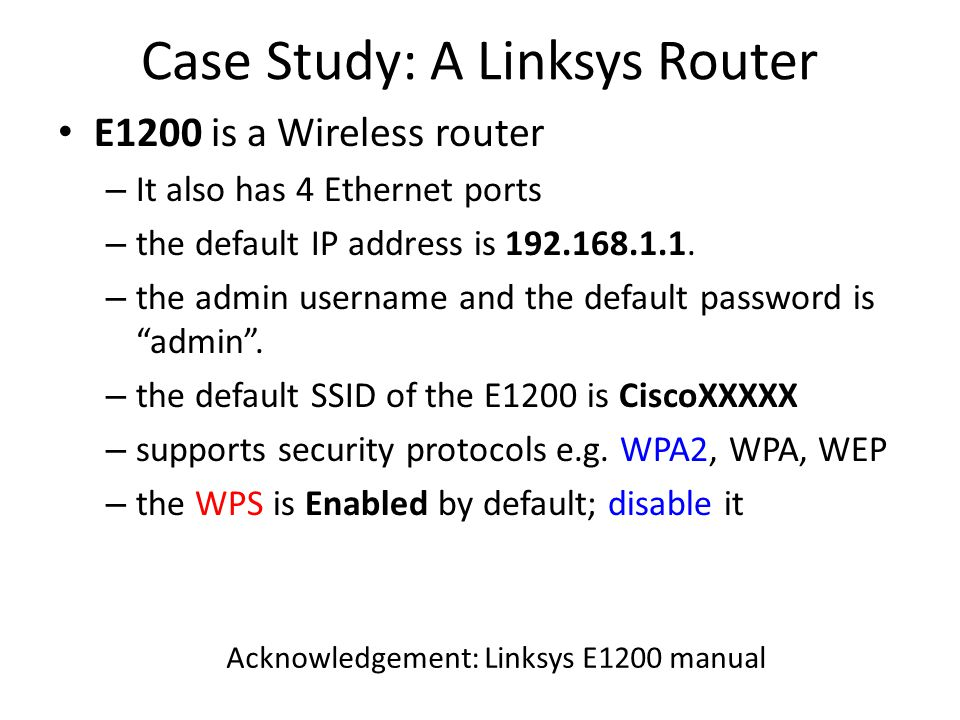 How to Secure a Home Wi-Fi S  Roy  Acknowledgement In preparing the