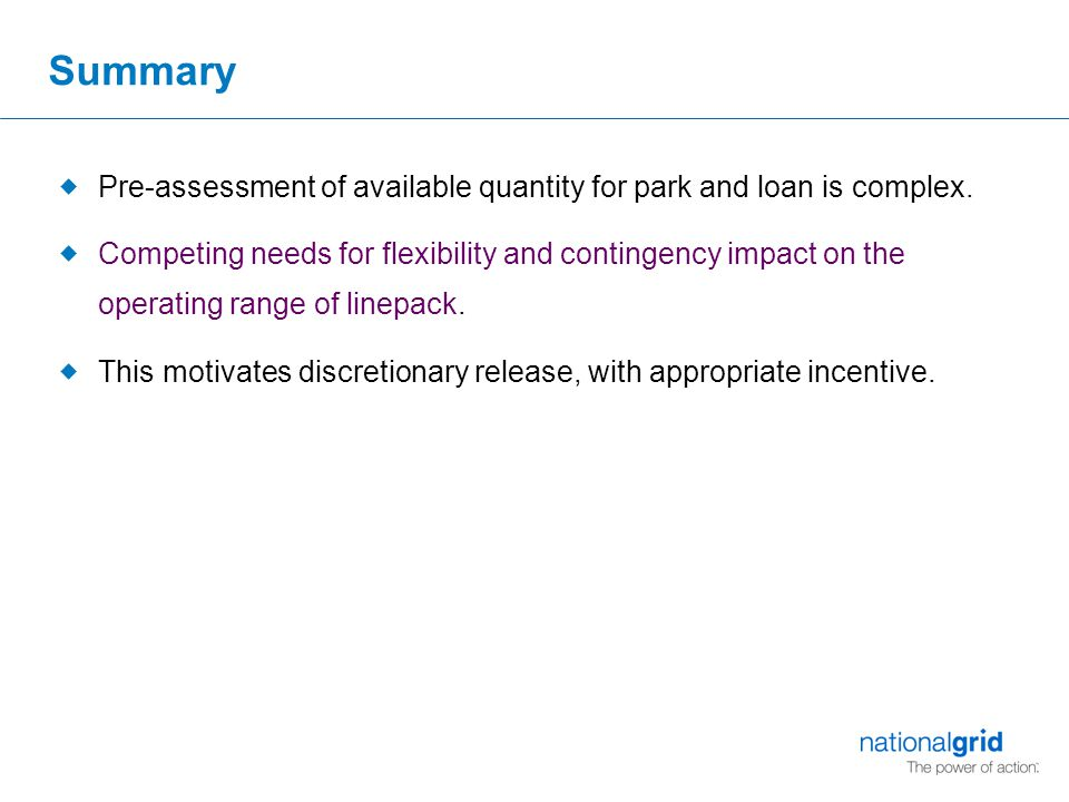 Summary  Pre-assessment of available quantity for park and loan is complex.