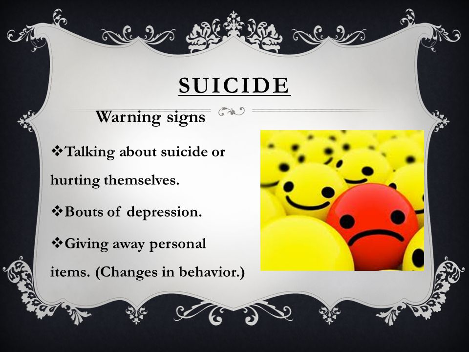 SUICIDE FACTS  Teenage suicide is preventable.