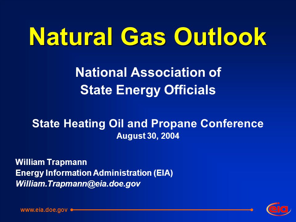 Natural Gas Outlook National Association of State Energy Officials State Heating Oil and Propane Conference August 30, 2004 William Trapmann Energy Information Administration (EIA)
