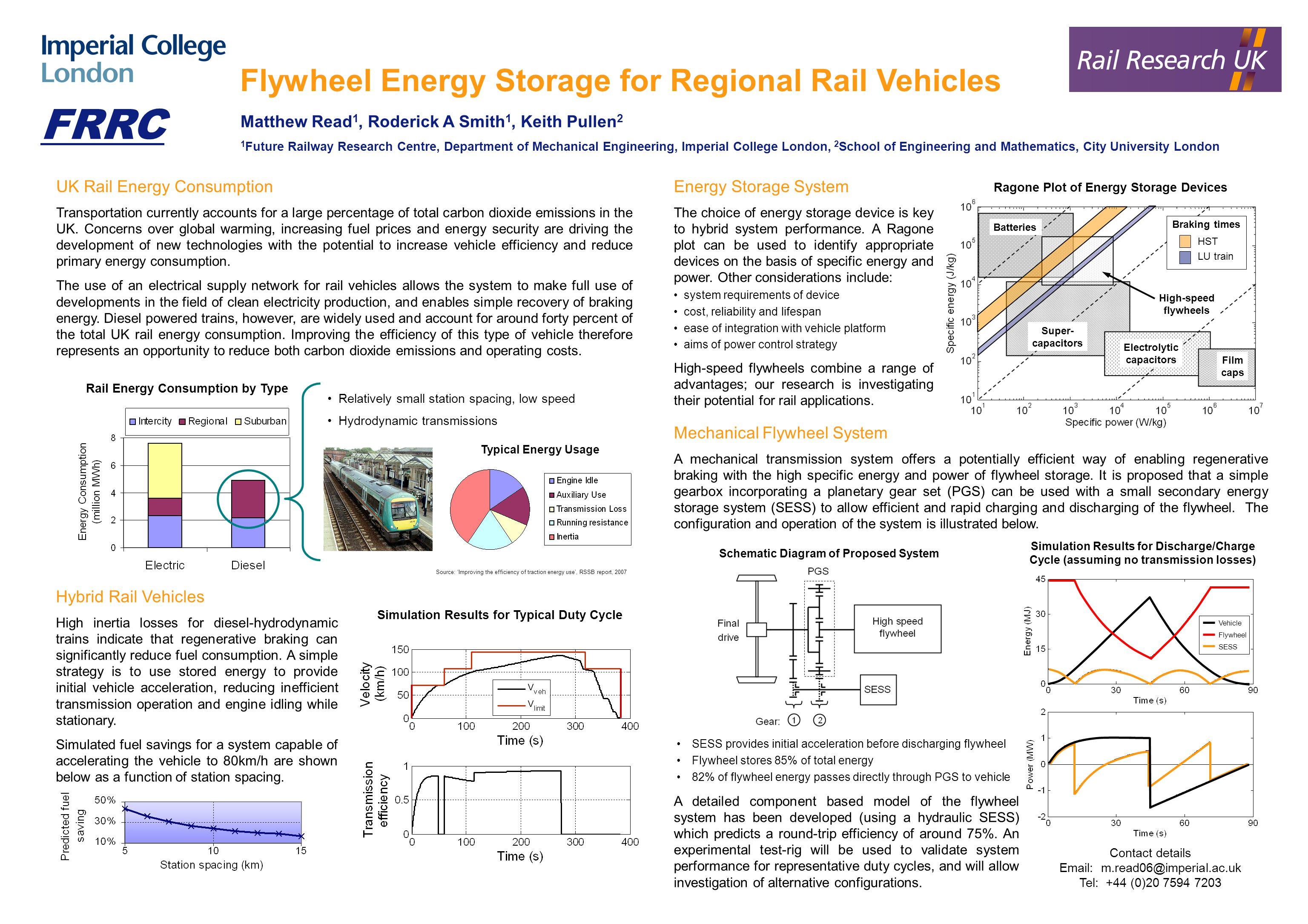 Flywheel Energy Storage for Regional Rail Vehicles Matthew