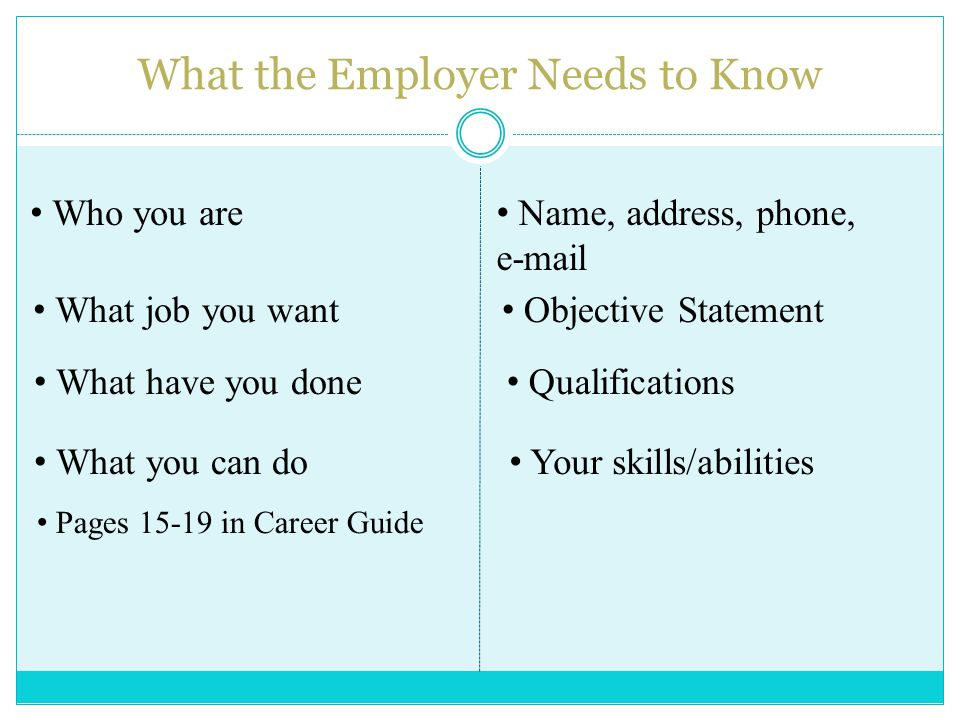 By Career Services Resume Writing Basics Why You Need A Resume