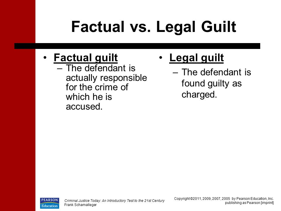 what is factual guilt