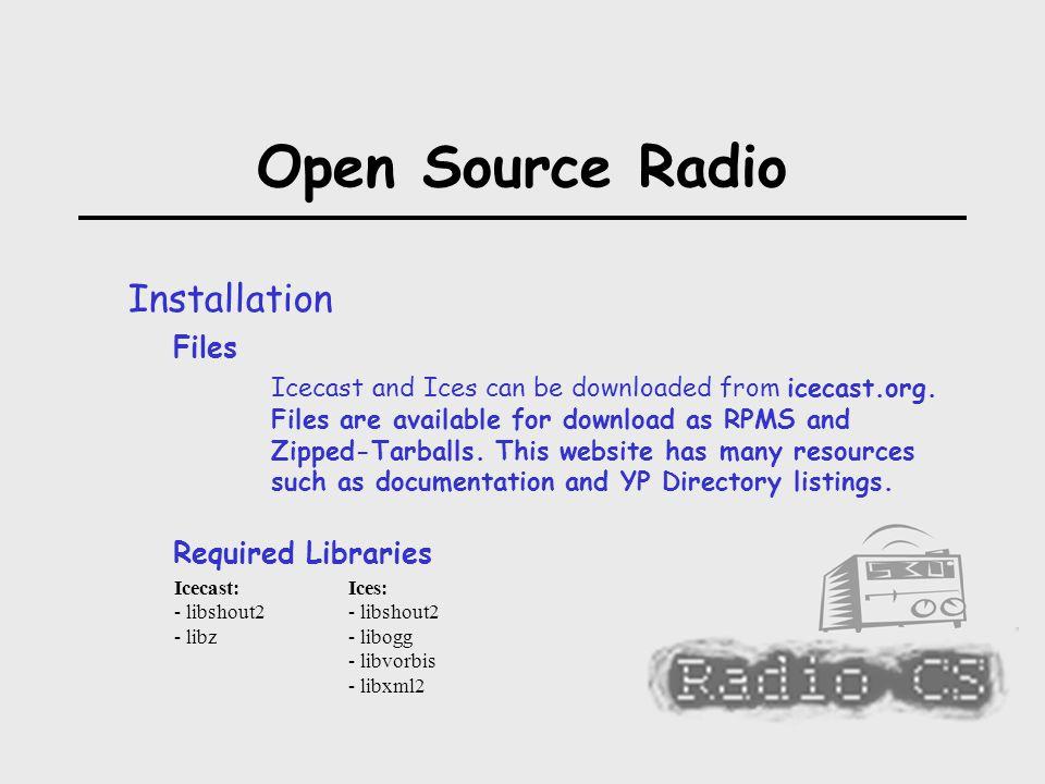 Open Source Radio Murray Saul Seneca College  Open Source Radio