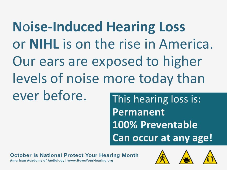 Noise-Induced Hearing Loss or NIHL is on the rise in America.