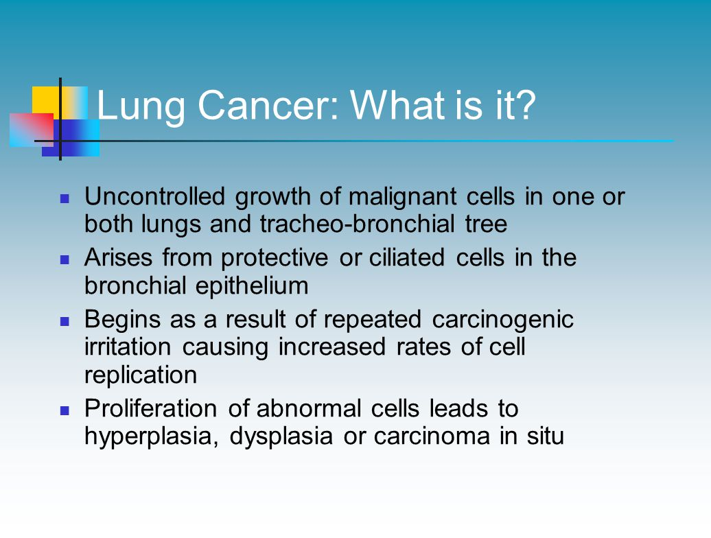 Lung Cancer: What is it.