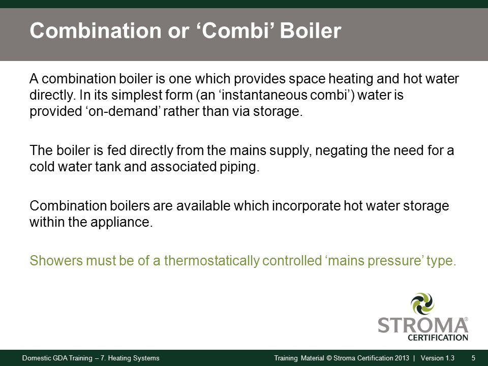 Domestic GDA Training – 7. Heating Systems1Training Material ...