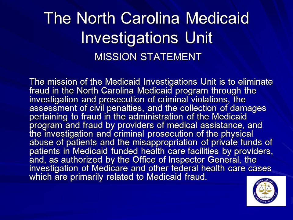 MID INVESTIGATIONS Douglas Thoren Criminal Chief Medicaid