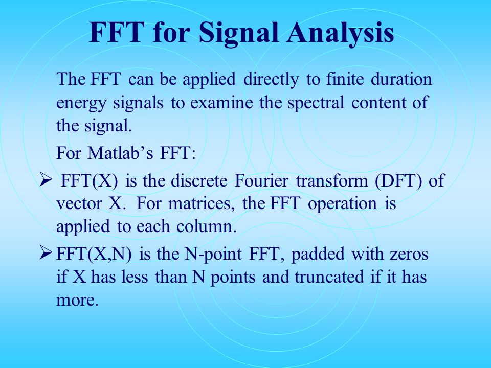 EE513 Audio Signals and Systems Digital Signal Processing (Analysis