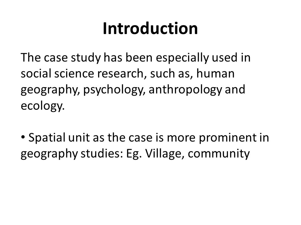 case study science