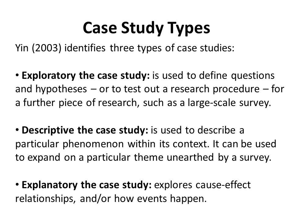 define a case study