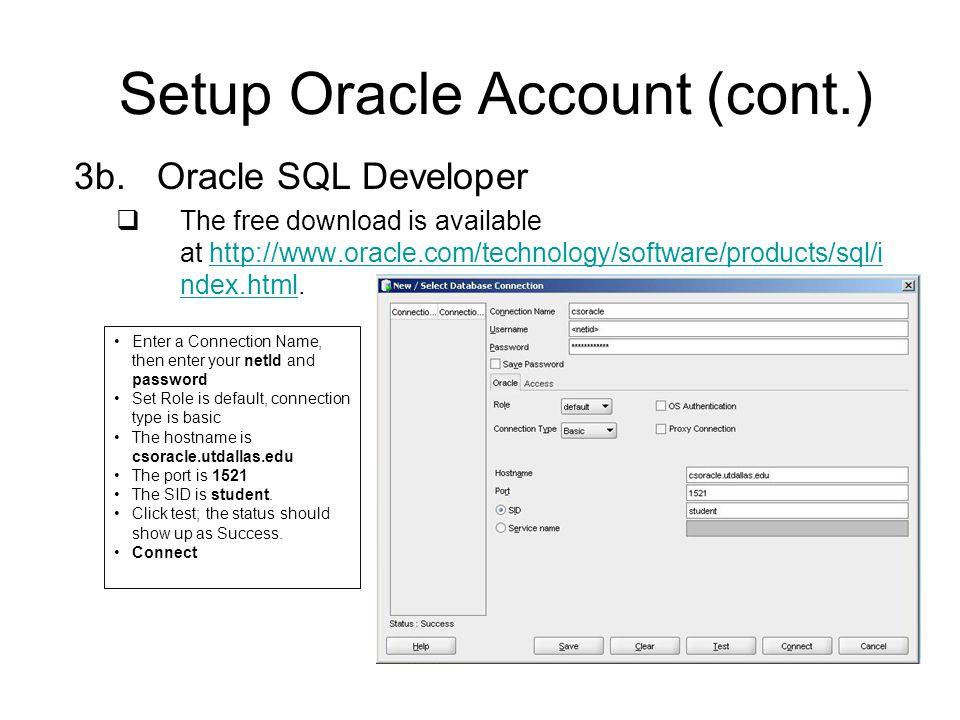 oracle sql developer download student