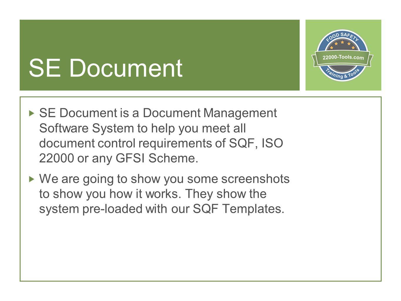 SE Document Document Control Software. SE Document SE Document is a ...