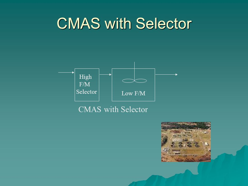 CMAS with Selector Low F/M High F/M Selector CMAS with Selector