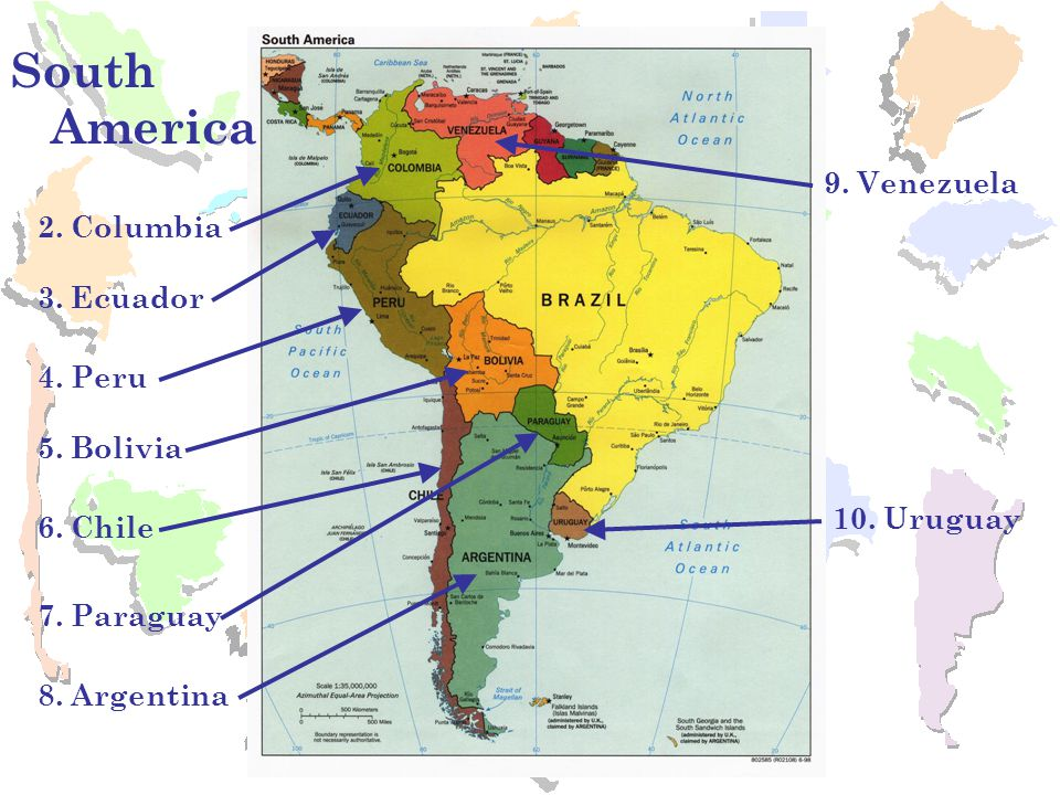 9 spanish speaking countries in south america
