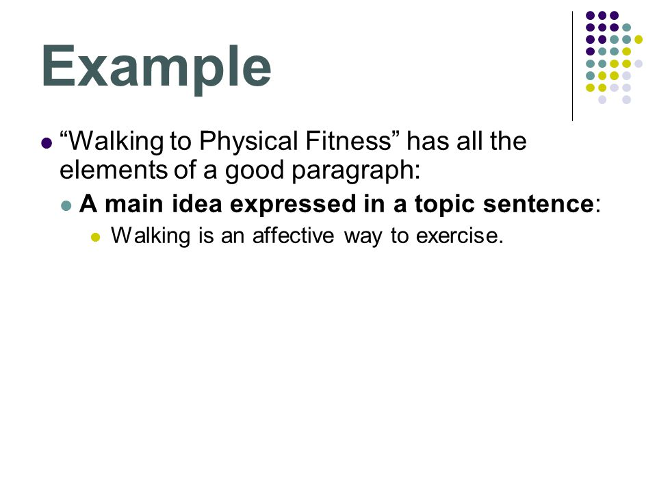 paragraph about health and fitness