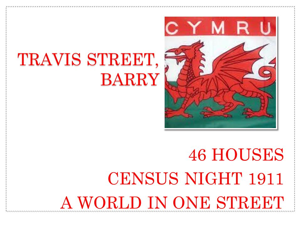 46 HOUSES CENSUS NIGHT 1911 A WORLD IN ONE STREET TRAVIS STREET, BARRY