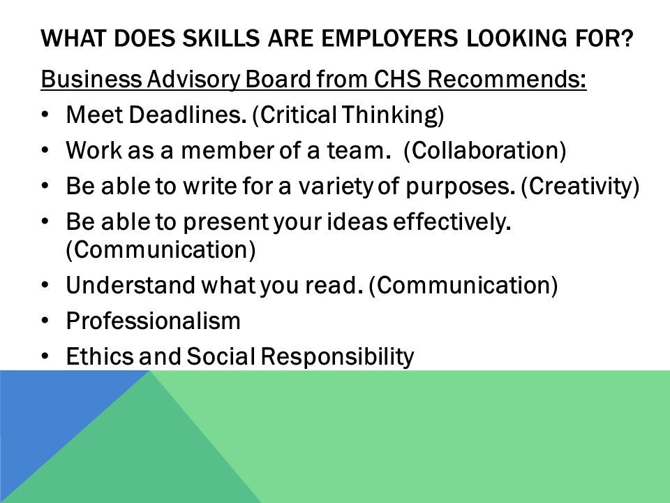 WHAT DOES SKILLS ARE EMPLOYERS LOOKING FOR.