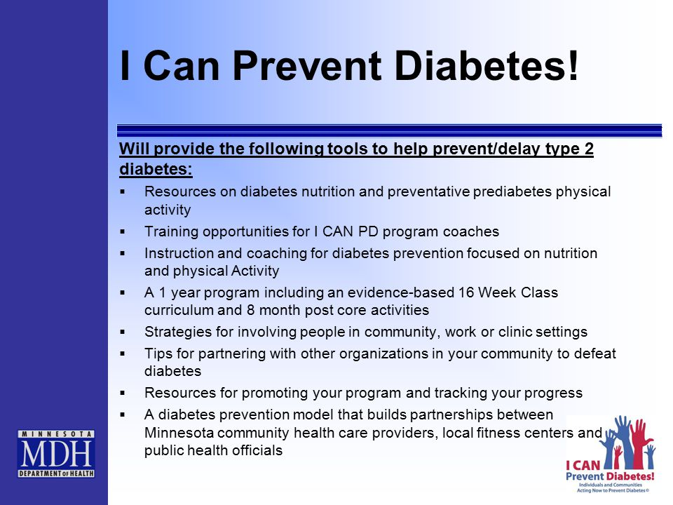 I Can Prevent Diabetes.