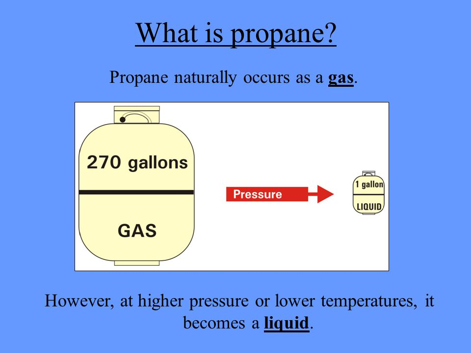 What Is Propane >> Propane Propane Is A Gas That Comes From Oil And Natural Gas Ppt