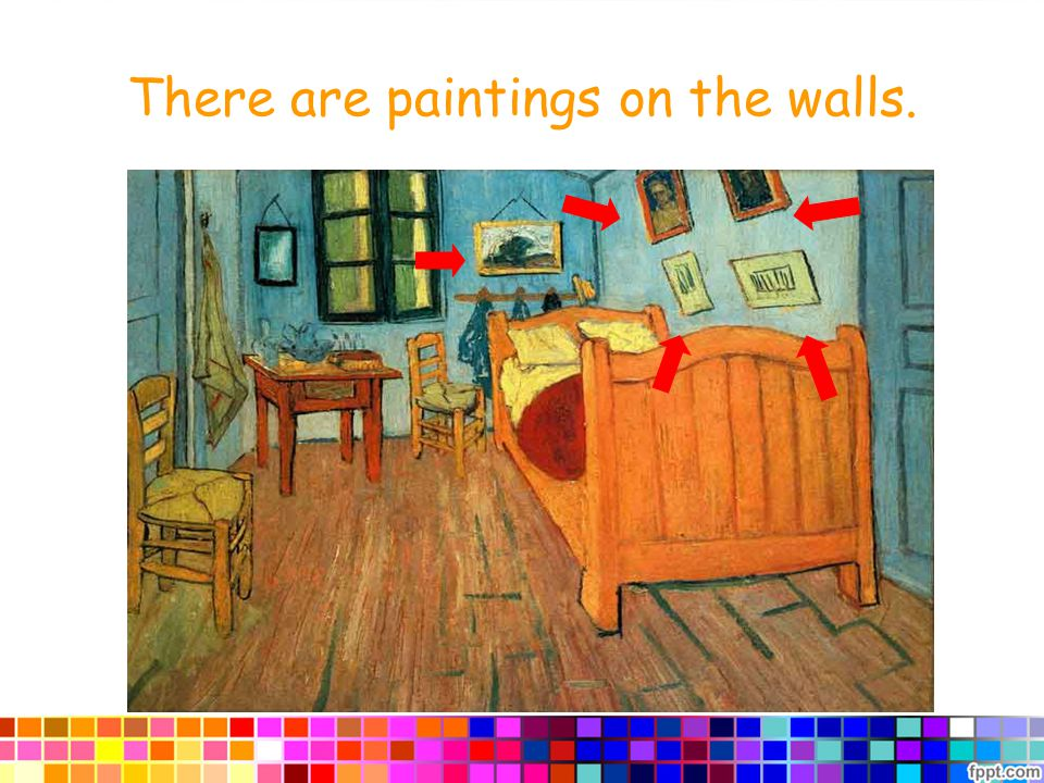 There are paintings on the walls.