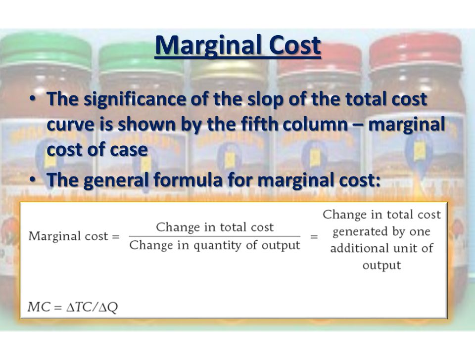 total cost marginal cost