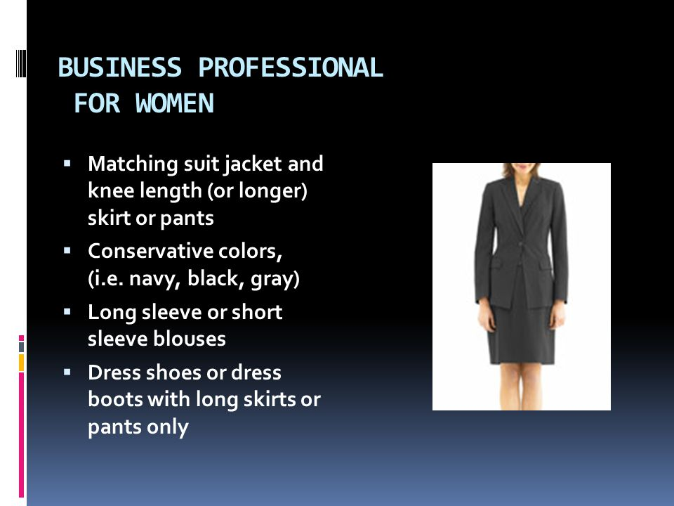 Business Professional For Women Matching Suit Jacket And Knee